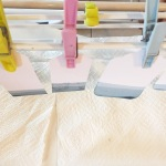 allow the pegs to dry a little between each dipping. a different effect might be achieved with regular prompt re-dipping